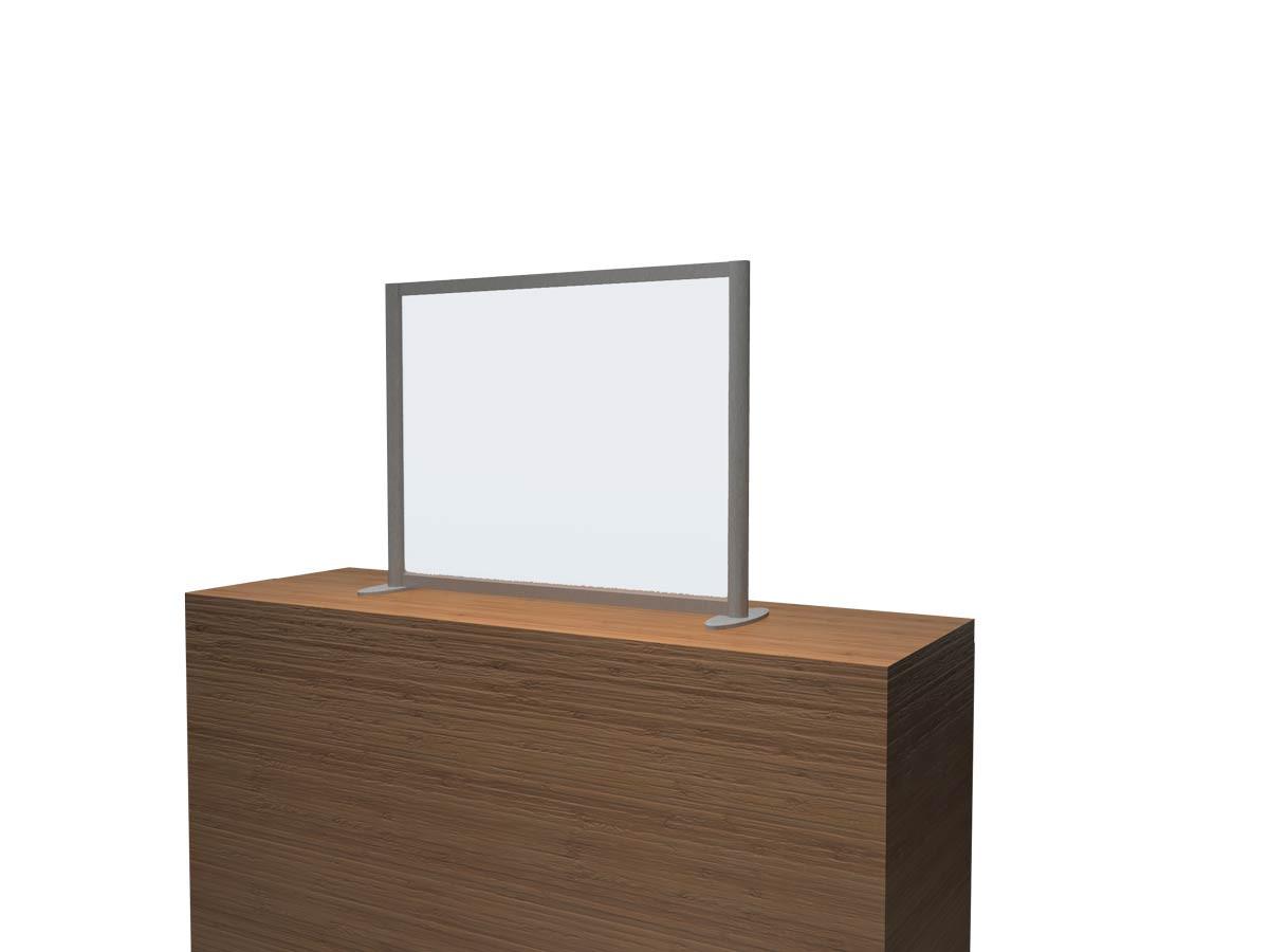 COVID Reception Desk Screen with Window