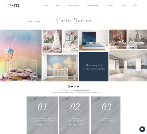 Castel Junior Web Page Design