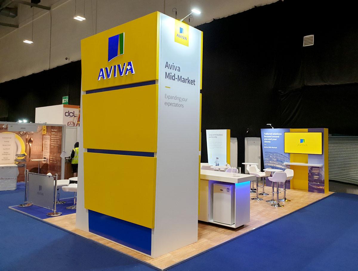 Exhibition Stand Tower Branding Aviva Broker Expo 2019