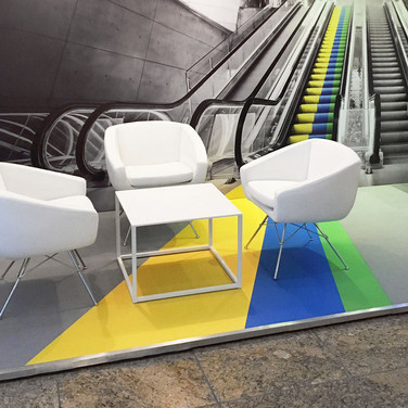 Co-Ordinated Floor to Wall Graphics for Aviva Investors