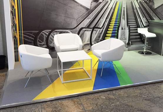 Textile Graphics Backdrop and Carpet Feature for Aviva Investors