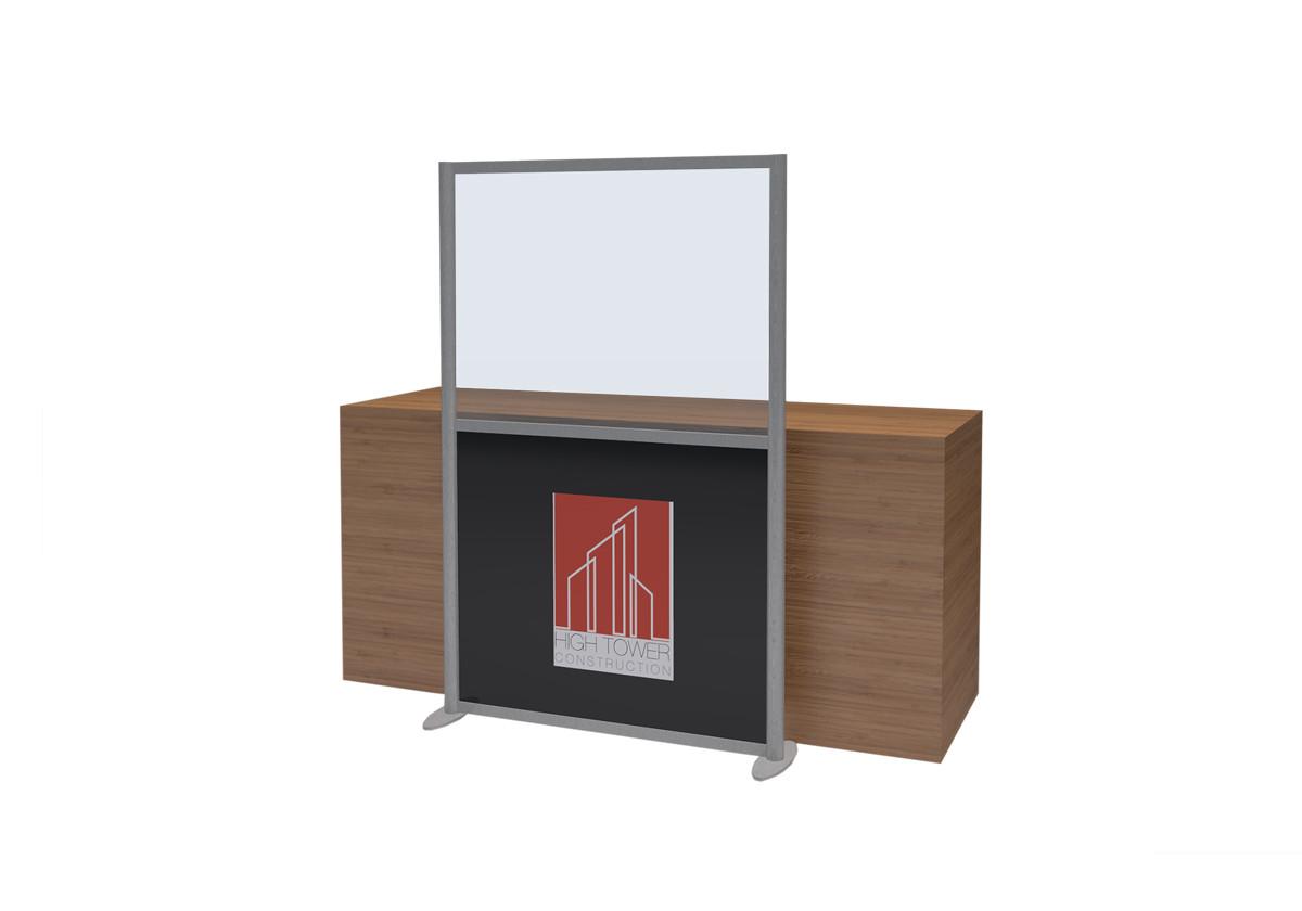 Freestanding COVID Reception Screen