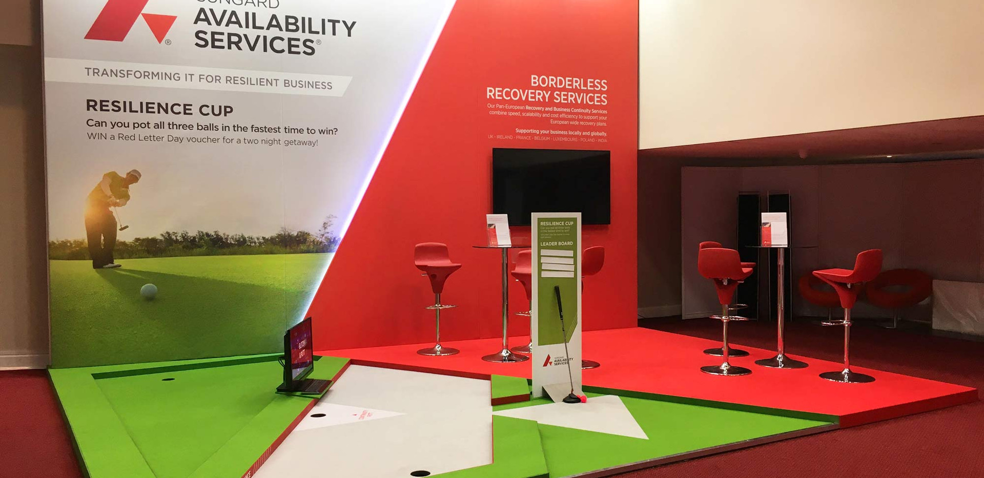 Modern Exhibition Stand Design and Build Sungard BCI World 2019