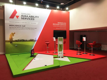 Custom exhibition stand - Sungard BCI World 2019