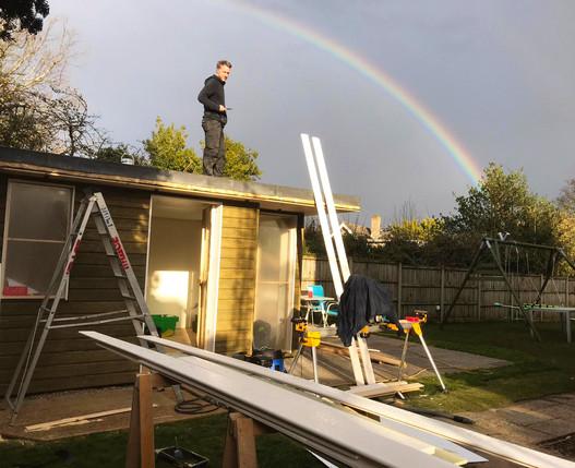 Freestyle Bespoke Garden Room Build Rain