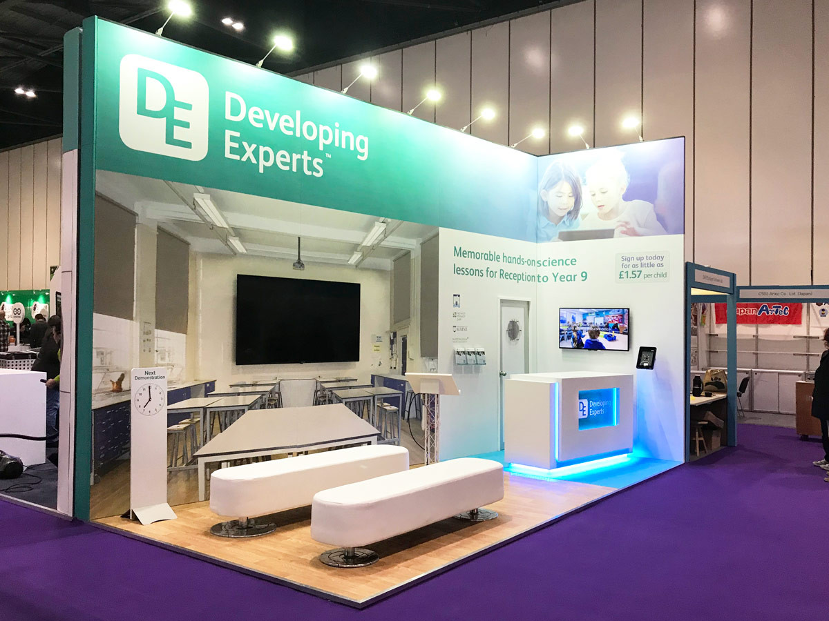 Custom Exhibition Stand Design and Build Developing Experts BETT 2018