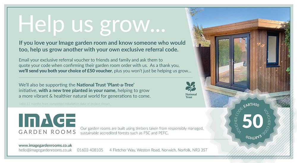 Image Garden Rooms - Referral Voucher Scheme in Support of National Trust 'Plant-A-Tree'