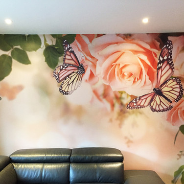 Custom Designed and Printed Decorative Wall Covering for Residential Interior in Norfolk