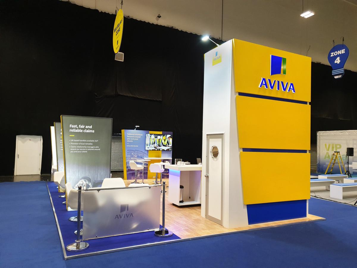 Modern Custom Exhibition Stand Aviva Broker Expo 2019