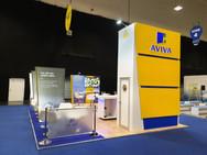 Open Plan Exhibition Stand - Aviva at Broker Expo 2019