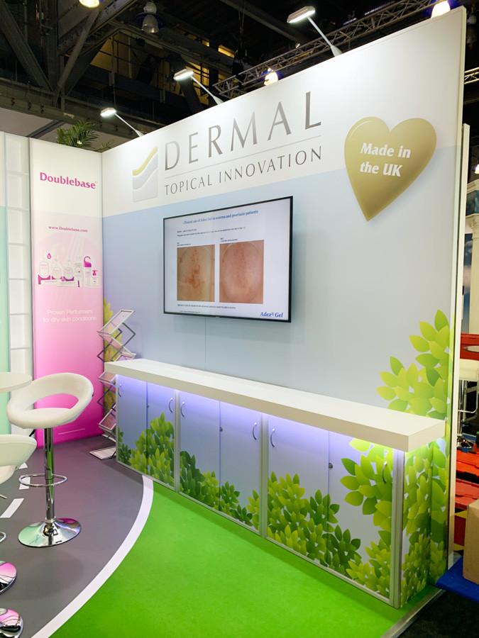Modulat Exhibition Stand Digital Display Dermal at BAD 2019