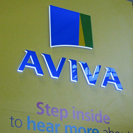 LED Edge Lit 3D Acrylic Logo for Aviva