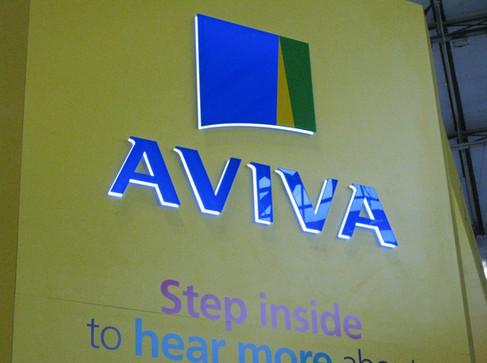 3D Illuminated Acrylic Logo for Aviva