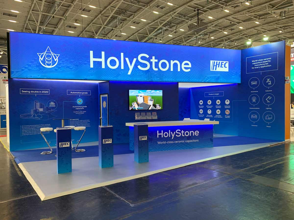 Custom Exhibition Stand Holystone Electronica 2018