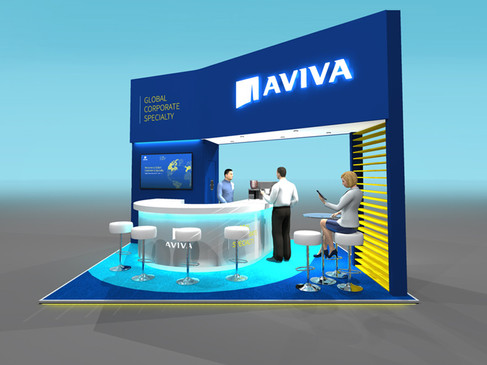 3D Design Concept for Aviva at Airmic Conference