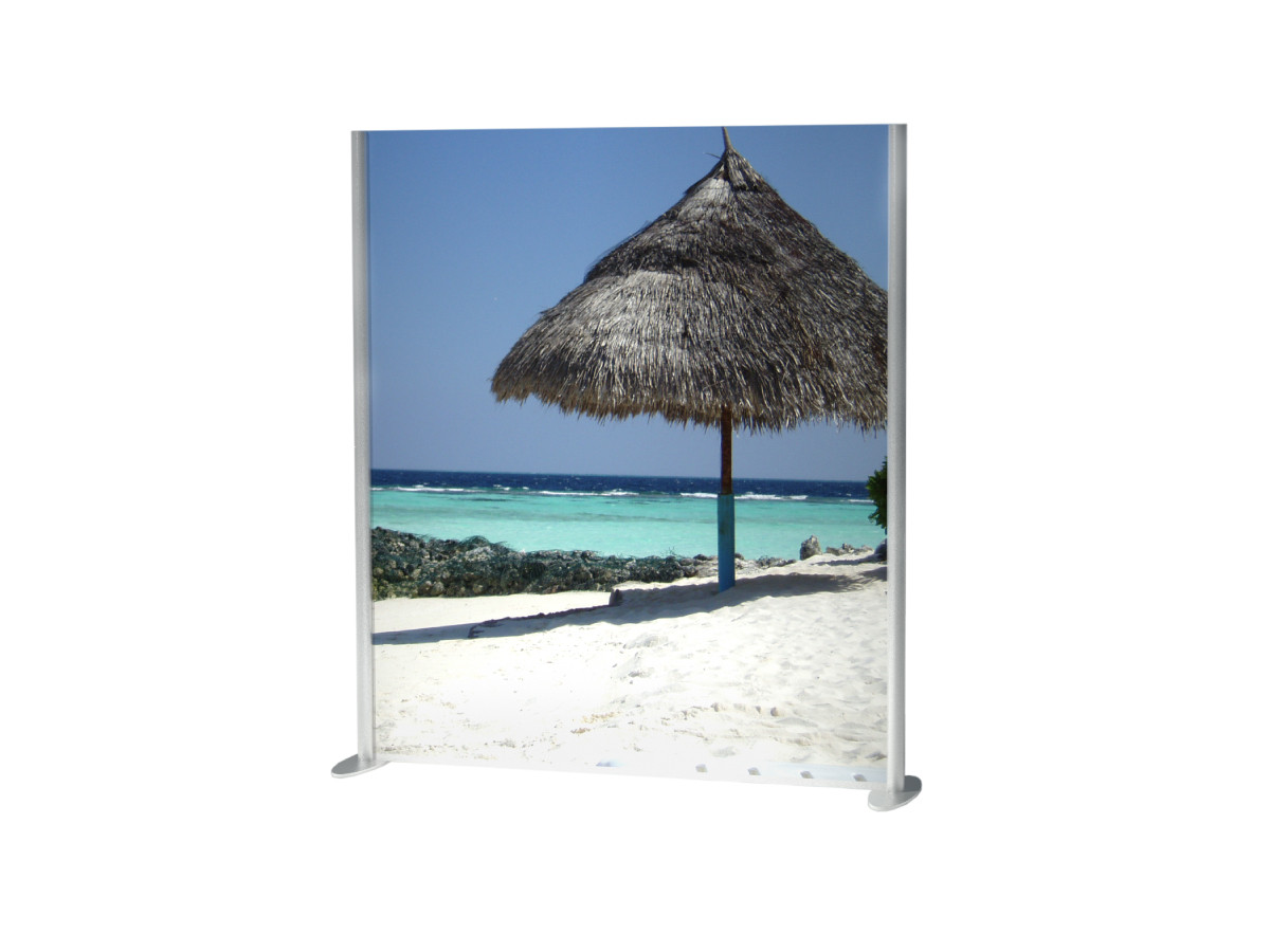 Covid Dividing Screen with Full Height Photo Graphic