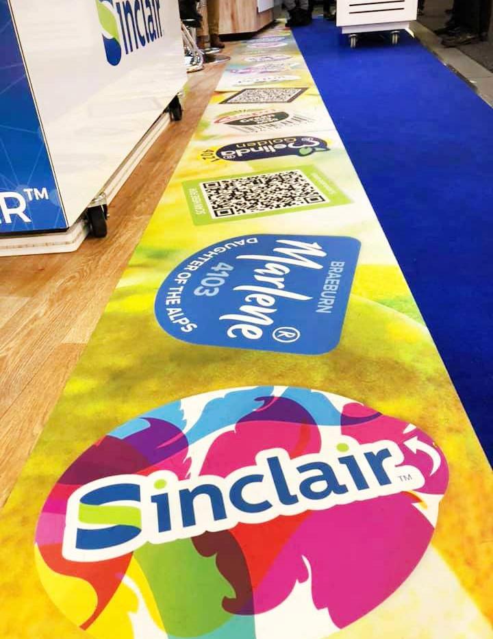 Unique Exhibition Stand Floor Graphic Sinclair Fruit Logistica 2019