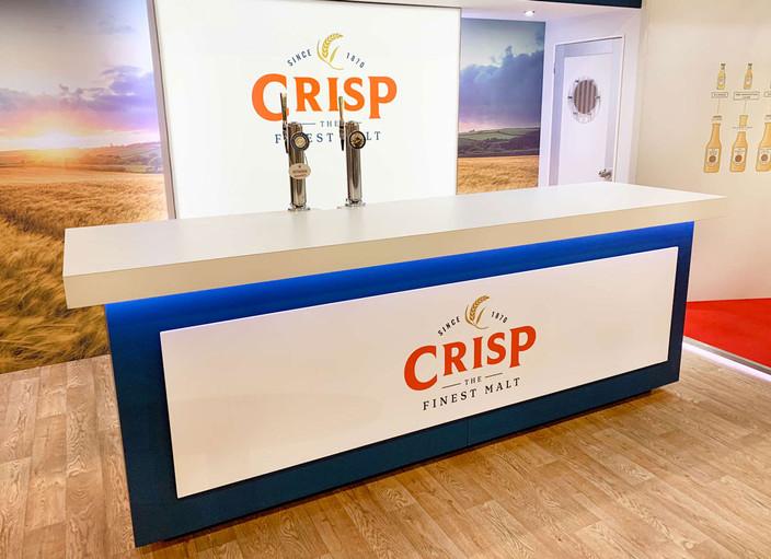 Beer Tap Display Counter for Crisp Malting Norfolk