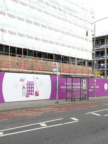 Graphic Design and Branding for Circle Housing Construction Hoardings