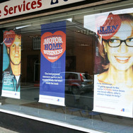 Shopfront Signage and Window Graphics for Alan Boswell in Norwich