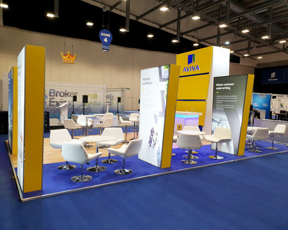 Exhibition Stand Meeting areas Aviva Broker Expo 2019