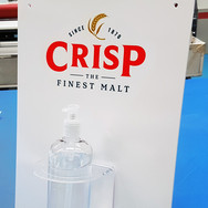 Bespoke Hand Sanitiser Display and Dispenser for Crisp