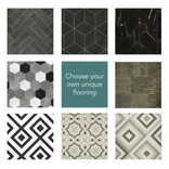 Patterned Vinyl Premium Garden Room Flooring to Your Choice