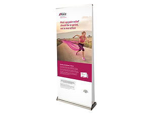 Double Sided Roller Banner with Graphics Image Display & Graphics
