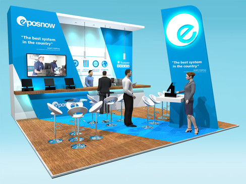 Exhibition Stand Design Concept for EPOS Now