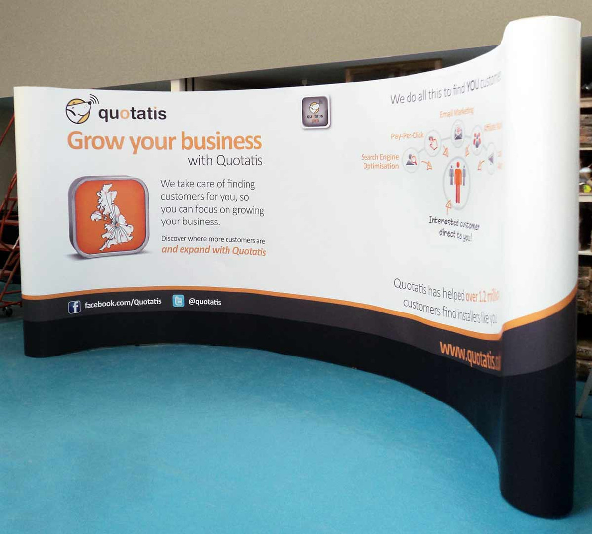 Wide Pop-up display - Quotatis