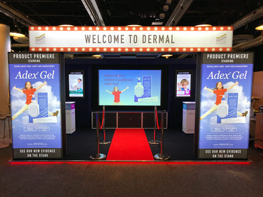 Cinema Themed Exhibition Stand - Dermal at BAD 2018
