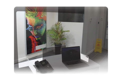 Acrylic Reception Desk Screens