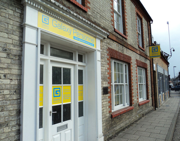 Shopfront Signage and Interior Graphics for Galaxy Personnel Norfolk
