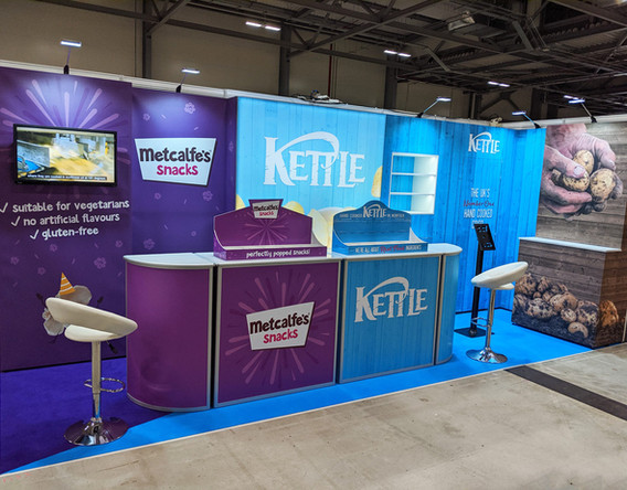 Dual Branded Modular Exhibition Stand for Kettle Foods at Retail Event 2019