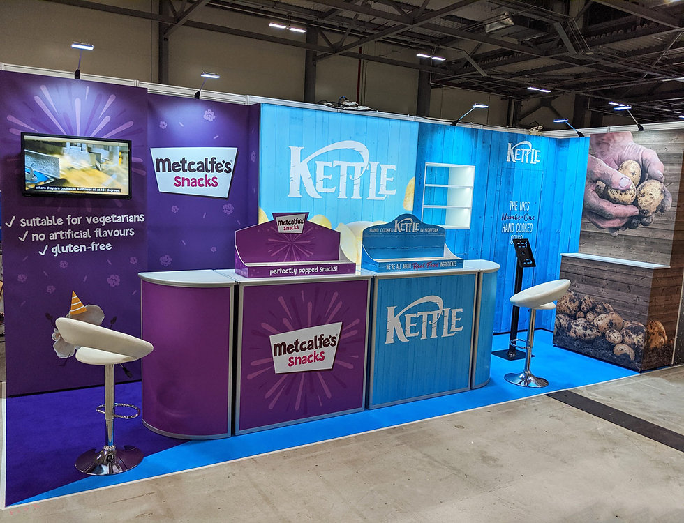 Dual-Brand-Custom-Modular-Exhibition-Stand-Kettle-Foods