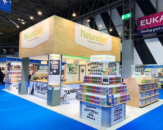 Custom Exhibition Stand Naturediet at Crufts 2019