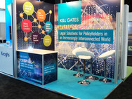 Small Modular Exhibition Stand - K&L Gates at Airmic 2018