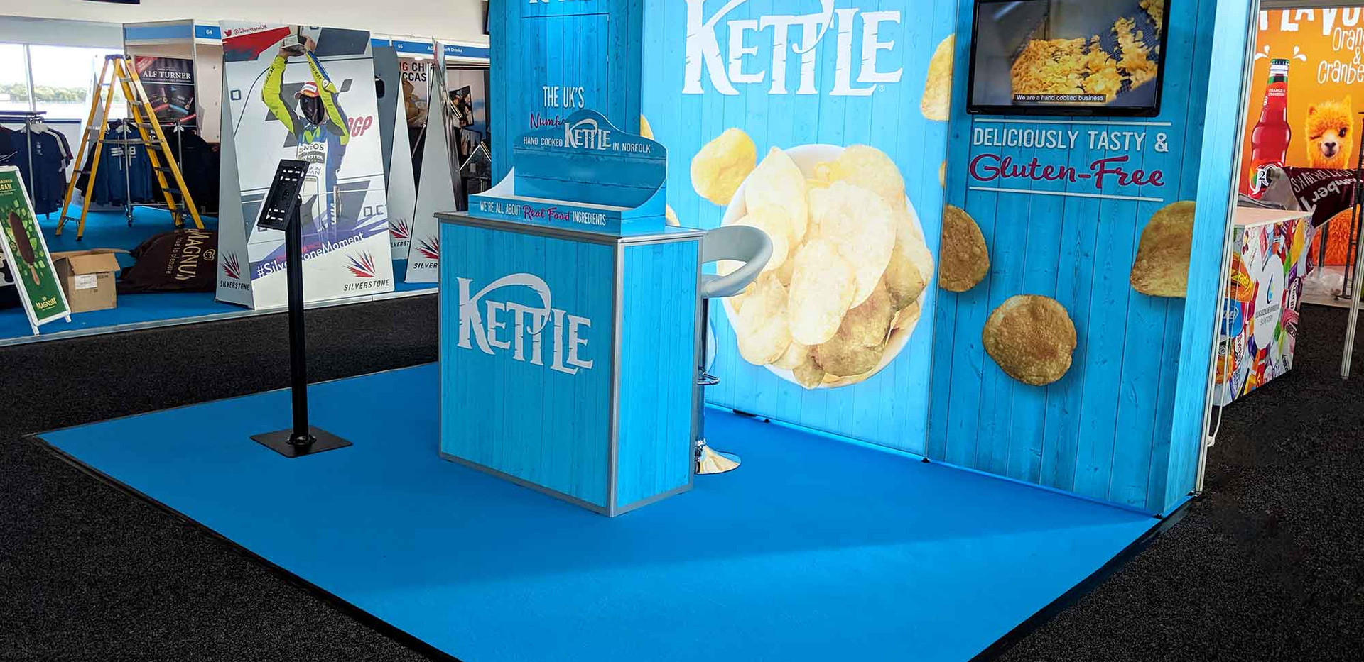 Custom Modular Exhibition Stand Kettle Foods 2019