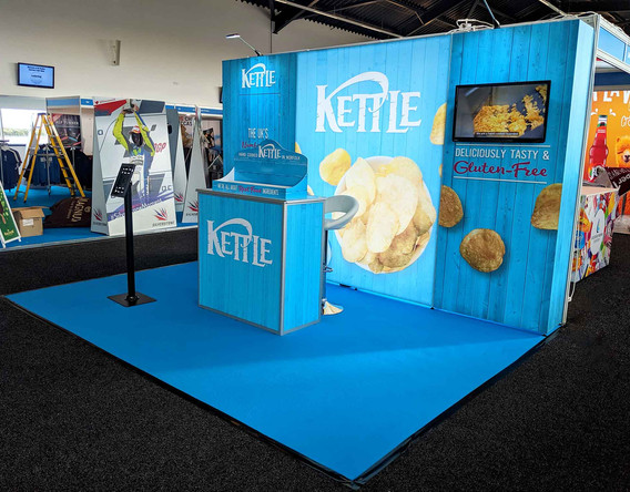 Custom Modular Exhibition Stand Kettle Foods 2019