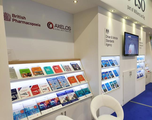 Internally Illuminated Book Display Shelves for TSO