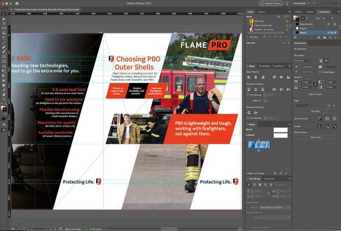 Large Format Print Design for FlamePro