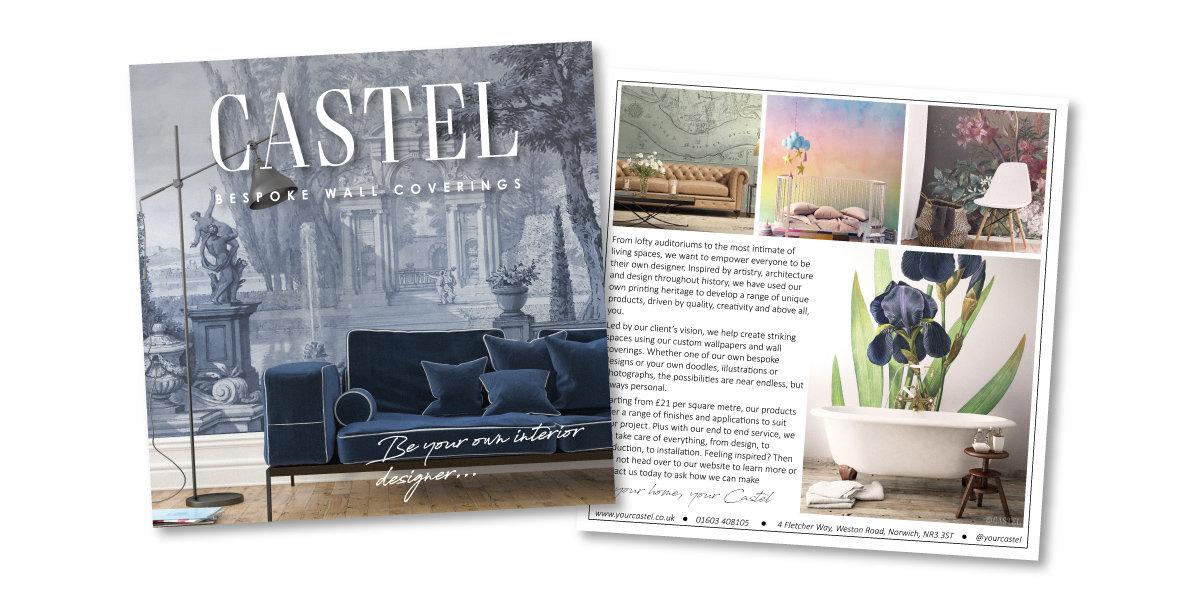 Castel Printed Postcard Advert Design