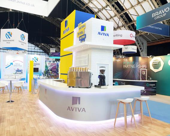 Custom Exhibition Stand Coffee Bar Aviva at BIBA 2019