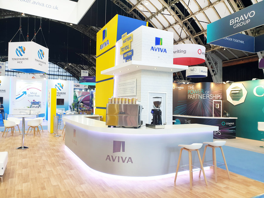 Custom Exhibition Stand Coffee Bar Aviva at BIBA 2019