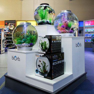 POS Retail Product Display for BioOrb Aquariums at Pets at Home