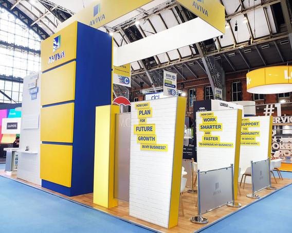 Large Custom Exhibition Stand Aviva at BIBA 2019