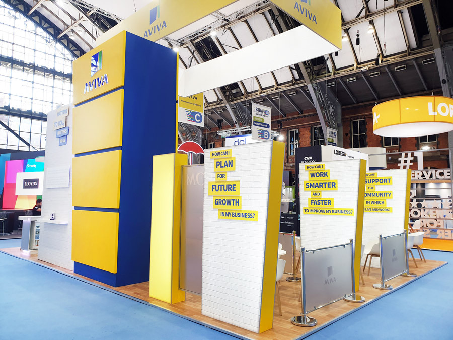Large Custom Exhibition Stand Aviva at BIBA 2019