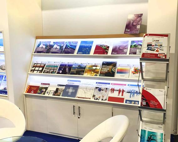 Custom Exhibition Stand Literature Displays TSO at London Book Fair 2019