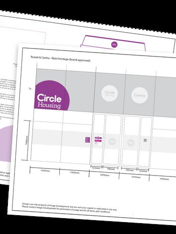 Interior Design Graphics & Branding for Circle Housing