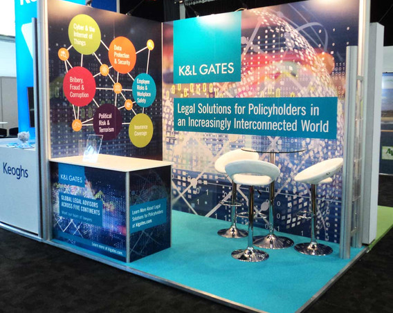 Modular Exhibition Stand K and L Gates Airmic 2018